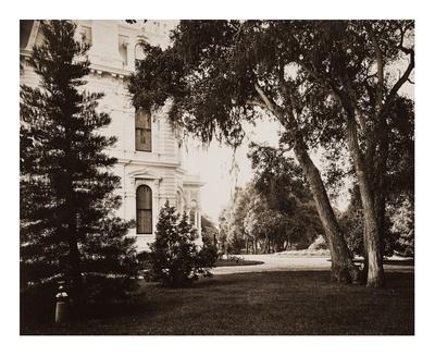 Thurlow Lodge, Menlo Park, California - Lawn and House, 1874