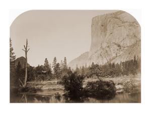 Tutucanula - El Capitan 3600 ft. Yosemite, California, 1861 by Carleton Watkins