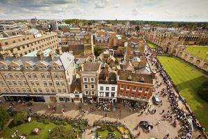Aerial View of Cambridge, England by Carlo Acenas