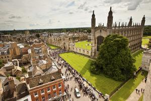 Aerial View of King's College of the University of Cambridge in England by Carlo Acenas