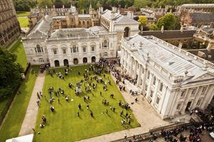 Aerial View of the Senate House of the University of Cambridge in England by Carlo Acenas