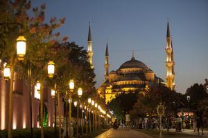 Sultan Ahmed Mosque, or Blue Mosque, at Dusk in Istanbul, Turkey by Carlo Acenas