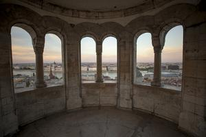 View of the Hungarian Parliament Building from Fisherman's Bastion in Budapest, Hungary by Carlo Acenas