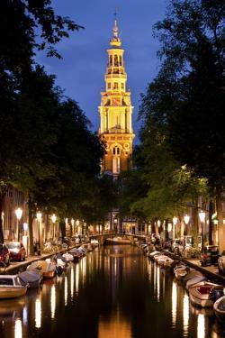 Zuiderkerk Church at Night in Amsterdam, Netherlands by Carlo Acenas