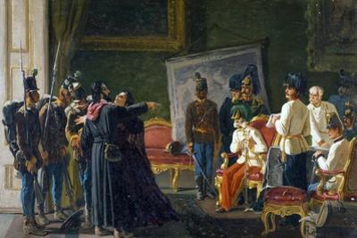 Ugo Bassi and His Sister Carlotta in Villa Spada, Ca 1866