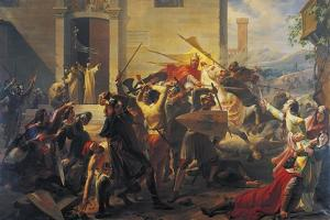 Emperor Frederick Barbarossa at Siege of Alexandria, 1174-1175 by Carlo Arienti