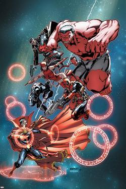 Thunderbolts Annual #1 Cover: Red Hulk, Elektra, Punisher, Leader, Deadpool, Venom, Dr. Strange by Carlo Barberi