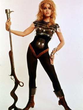 "Jane Fonda, Wearing Space Age Costume in Publicity Still from Roger Vadim's Film ""Barbarella"" by Carlo Bavagnoli"