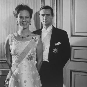 Princess Margrethe II and Her Husband Prince Henrik by Carlo Bavagnoli
