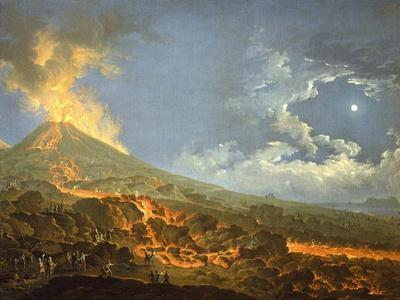 Eruption of Vesuvius from the Slopes of the Crater