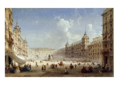 A View of the Plaza Mayor, Madrid