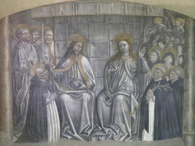 Christ Giving World to Saint Dominic in Presence of Virgin Mary