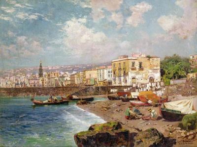 Fishing Boats on the Beach at Marinella, Naples