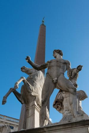 Castor and Pollux Statue in Front of the Quirinale