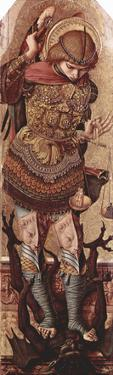 Carlo Crivelli (Altarpolyptychon of St. Peter Martyr, left outer wing scene: Archangel Michael)