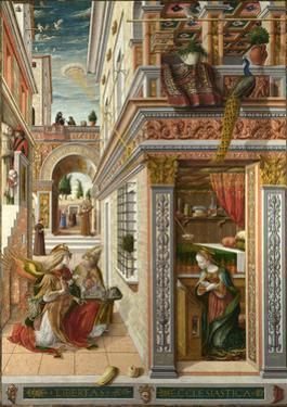 The Annunciation, with Saint Emidius, 1486 by Carlo Crivelli