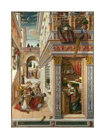 The Annunciation, with Saint Emidius, 1486