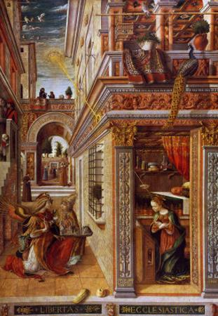 The Annunciation with St. Emidius, 1486 by Carlo Crivelli