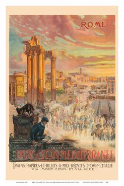 Rome - Trains for Italy - Paris-Lyon-Mediterrannee (PLM), French Railroad by Carlo Cussetti