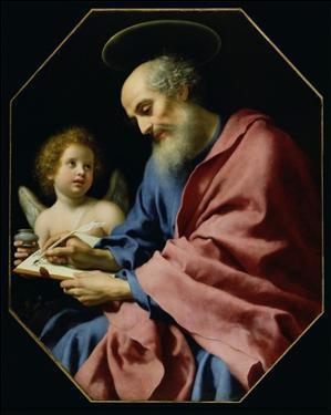 St. Matthew Writing His Gospel by Carlo Dolci