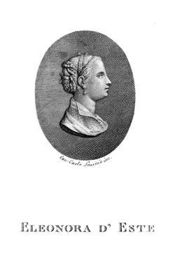 Eleonora D'Este Ferrara by Carlo Lasinio