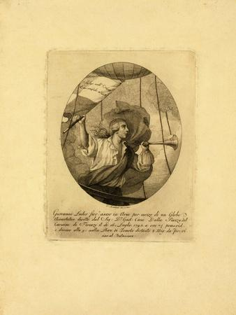 Giovanni Battista Luder, Standing in a Balloon Basket During an Ascent over Florence, 1795-1850