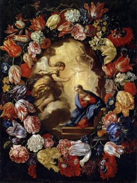The Annunciation with Flowers, 17th or Early 18th Century by Carlo Maratta