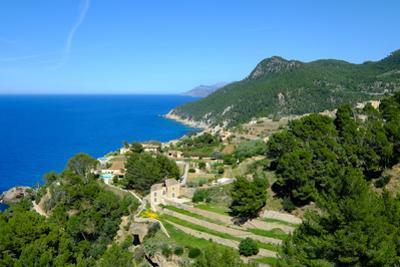 Coastline near Banyalbufar, Serra de Tramuntana, Majorca, Balearic Islands, Spain, Mediterranean, E