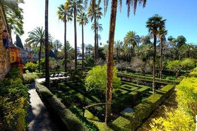 Dance Gardens, Real Alcazar, UNESCO World Heritage Site, Seville, Andalucia, Spain