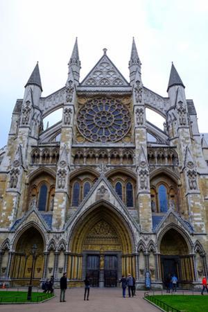 North entrance of Westminster Abbey, London, England, United Kingdom, Europe