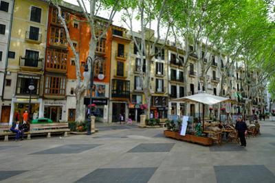 Passeig del Born, the shopping street of Palma, Majorca, Balearic Islands, Spain, Europe