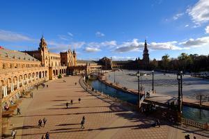 Plaza De Espana, Built for the Ibero-American Exposition of 1929, Seville, Andalucia, Spain by Carlo Morucchio