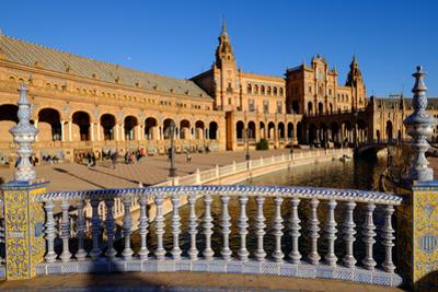 Plaza De Espana, Built for the Ibero-American Exposition of 1929, Seville, Andalucia, Spain