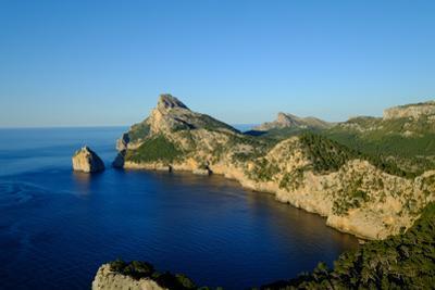 Punta Nau seen from el Mirador Es Colomer in the Formentor Peninsula, Majorca, Balearic Islands, Sp