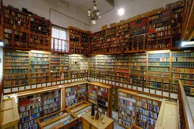 The ancient library Monastery of Santa Maria de la Real, Majorca, Balearic Islands, Spain, Europe