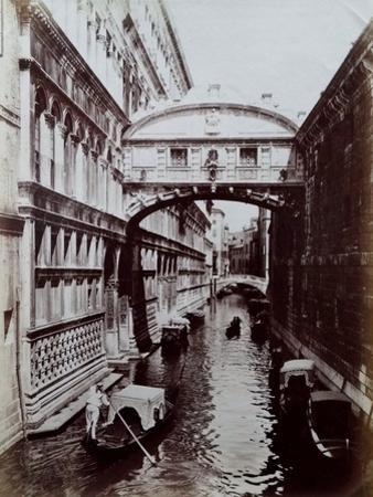 Bridge of Sighs, Venice, C.1870