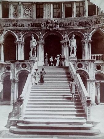 Doge's Palace Staircase, Venice, C.1870