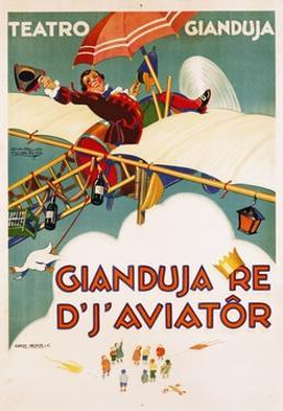 Gianduja Re D'J'Aviator Poster by Carlo Nicco