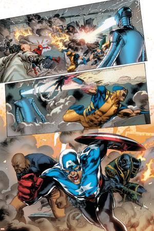 Agents of Atlas No.5 Group: Cage, Luke, Ronnin and Captain America by Carlo Pagulayan
