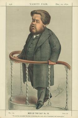 The Rev Charles Spurgeon, Noone Has Succeeded Like Him in Sketching the Comic Side of Repentance… by Carlo Pellegrini