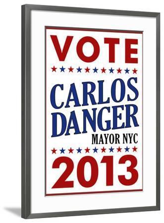 Carlos Danger For Mayor NYC Campaign--Framed Art Print