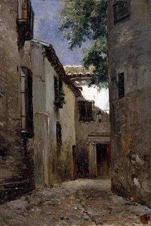 Carlos de Haes / A Street of Toledo, ca. 1865 by Carlos de Haes