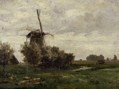 Carlos de Haes / Molinos de viento (Holanda), ca. 1884 by Carlos de Haes