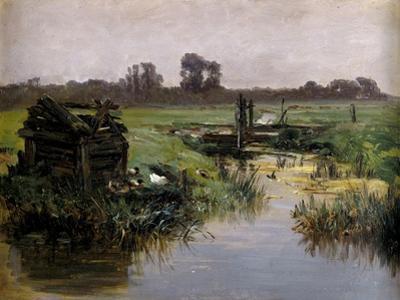 Carlos de Haes / Praderas de Holanda, ca. 1884 by Carlos de Haes