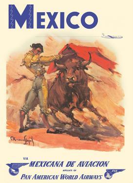 Mexico - via Mexicana de Aviaci�n - Pan American World Airways - Bull Fighter by Carlos Ruano Llopis