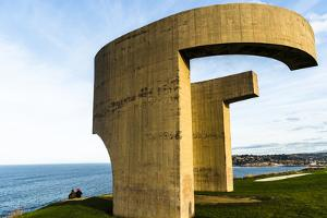 Eulogy of the Horizon by Eduardo Chillida Public Monument in Gijon City Asturias Spain by Carlos Sanchez Pereyra
