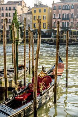 Gondola on a Canal in Venice, Italy by Carlos Sanchez Pereyra