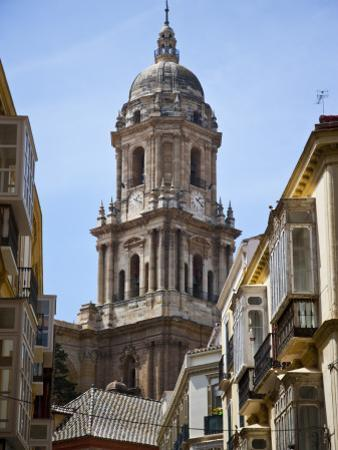 Tower of the Cathedral of Malaga, Andalusia, Spain