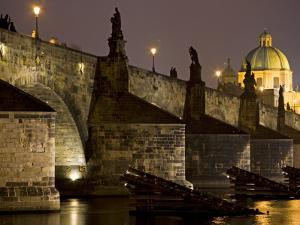 View of Charles Bridge, Prague, Czech Republic by Carlos Sanchez Pereyra