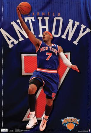 Carmelo Anthony New York Knicks Sports Poster